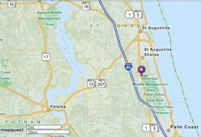 Map St Augustine Florida.Christ The King Anglican Church Of St Augustine
